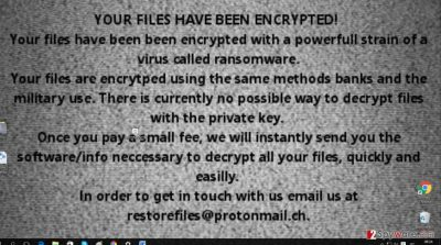 The background picture of Restore@protonmail.ch