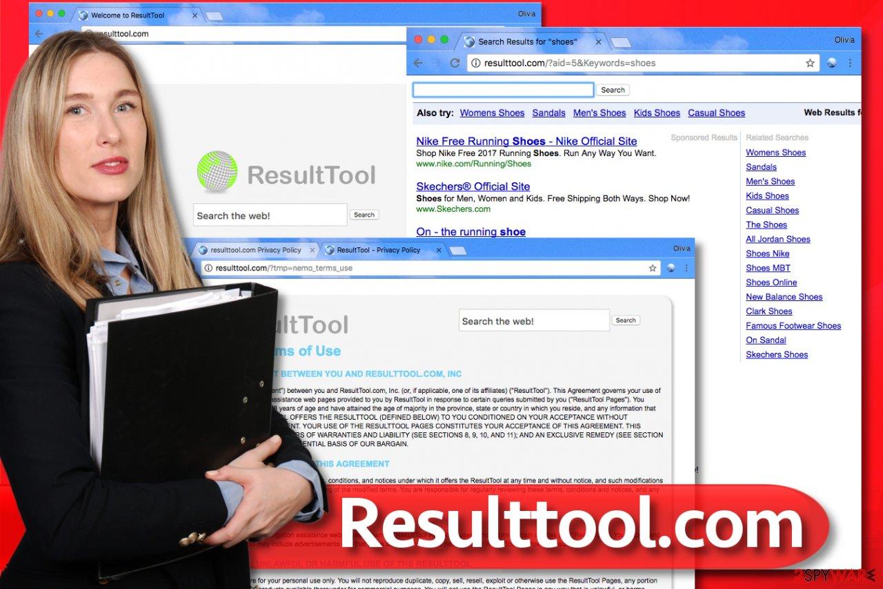 Resulttool.com browser hijack