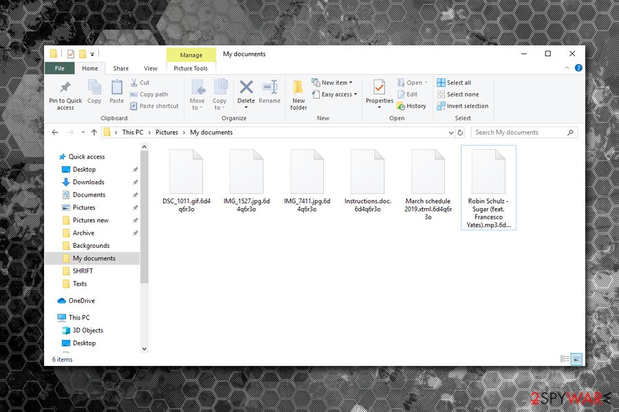 REvil ransomware encrypted files