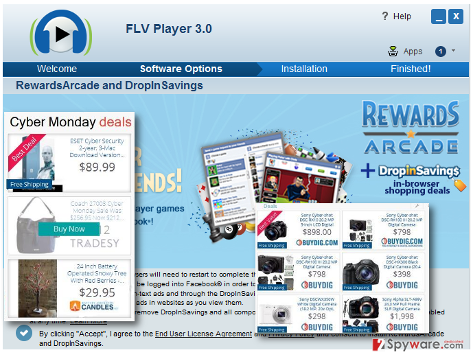 Displaying RewardsArcade pop-up ads