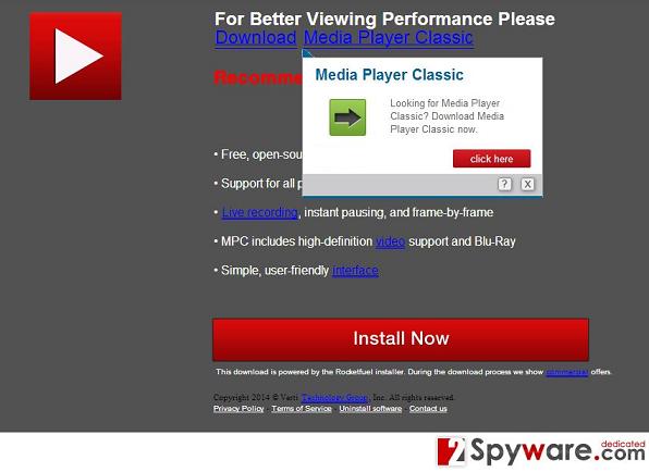 Rextrk.com virus snapshot