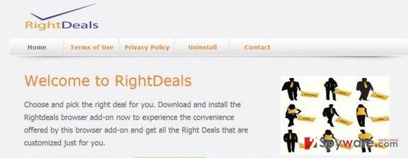 RightDeals ads snapshot