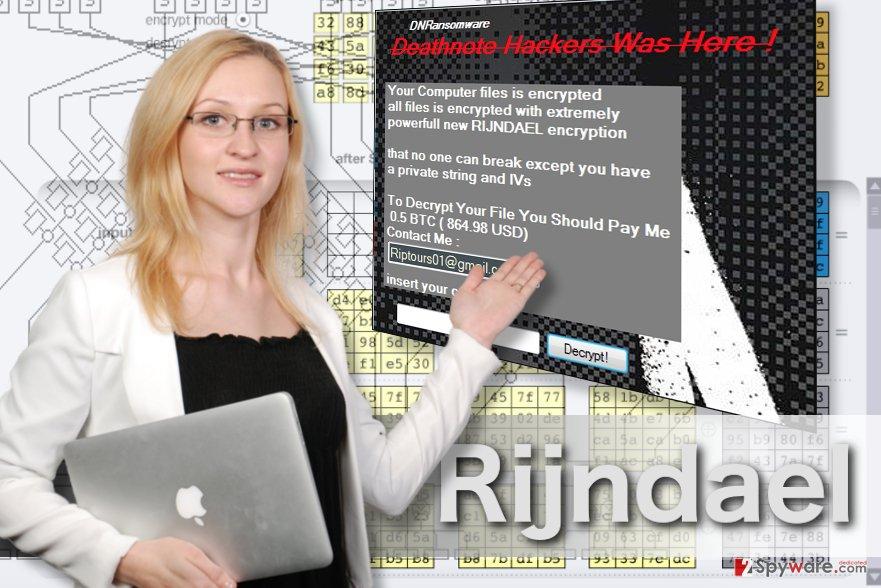 Rijndael ransomware image