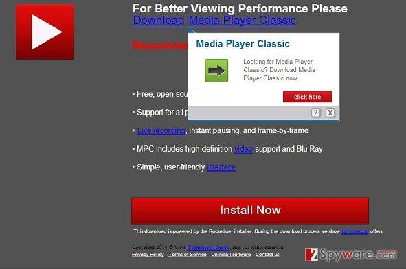 Rjs.xstreamjs.net pop-up virus snapshot