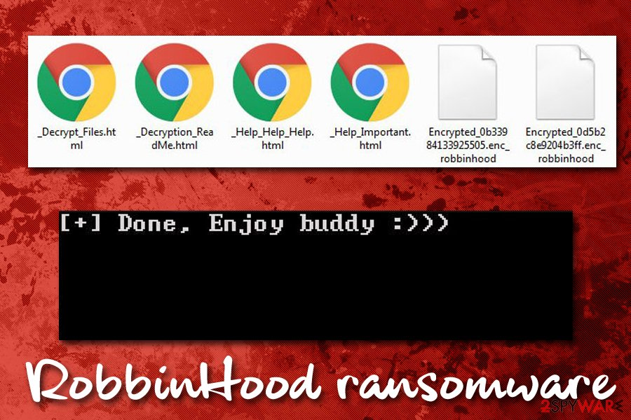 RobbinHood ransomware encrypted files
