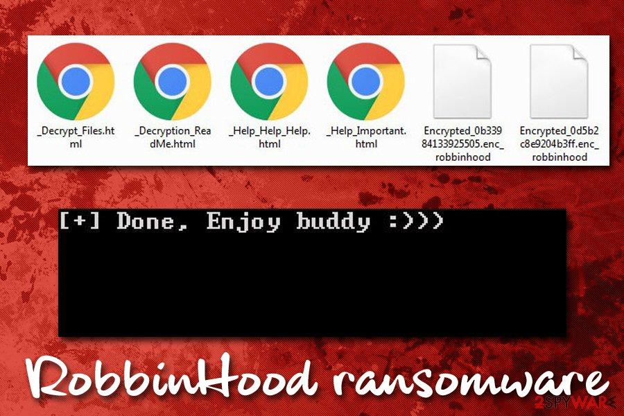 RobbinHood ransomware encrypted files