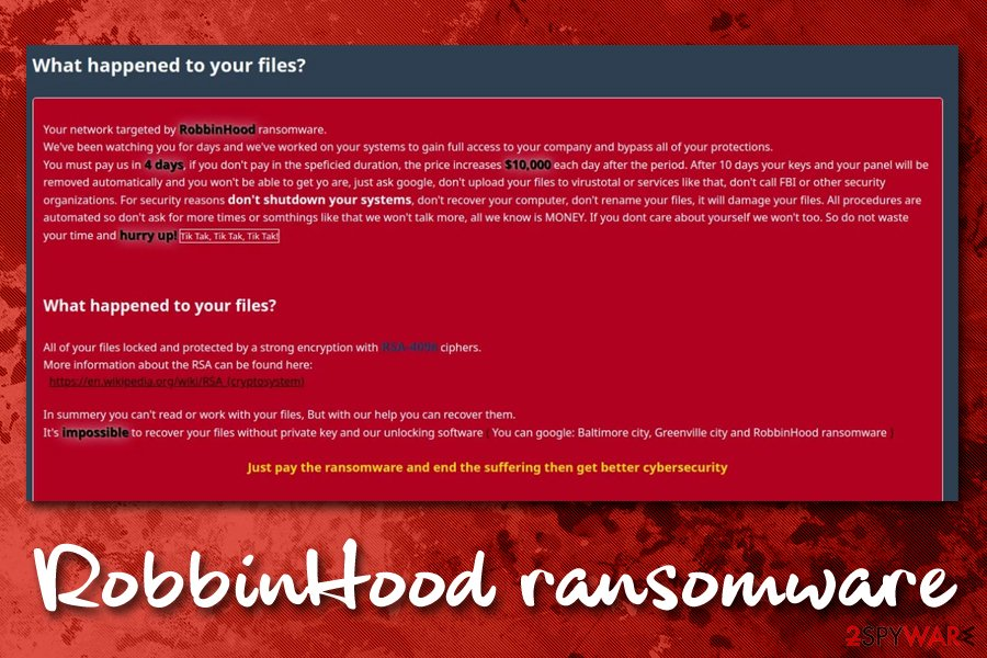 RobbinHood ransomware new variant