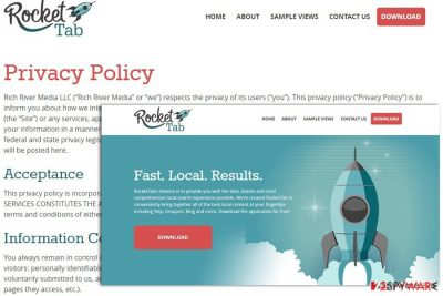 Rocket Tab privacy policy