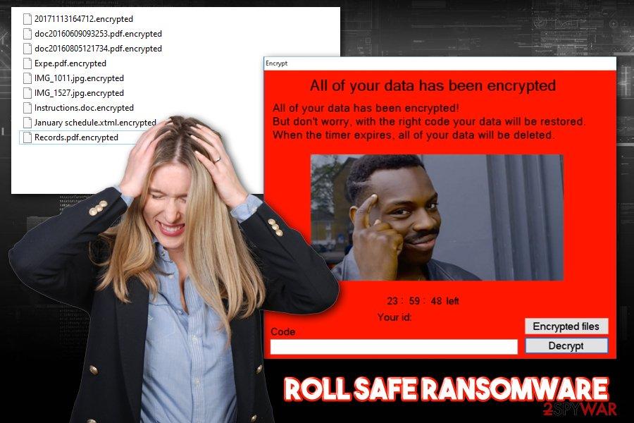 Roll Safe ransomware virus
