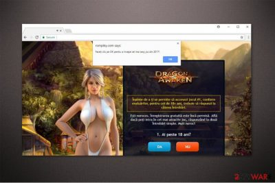 Rompilsy.com redirect virus image