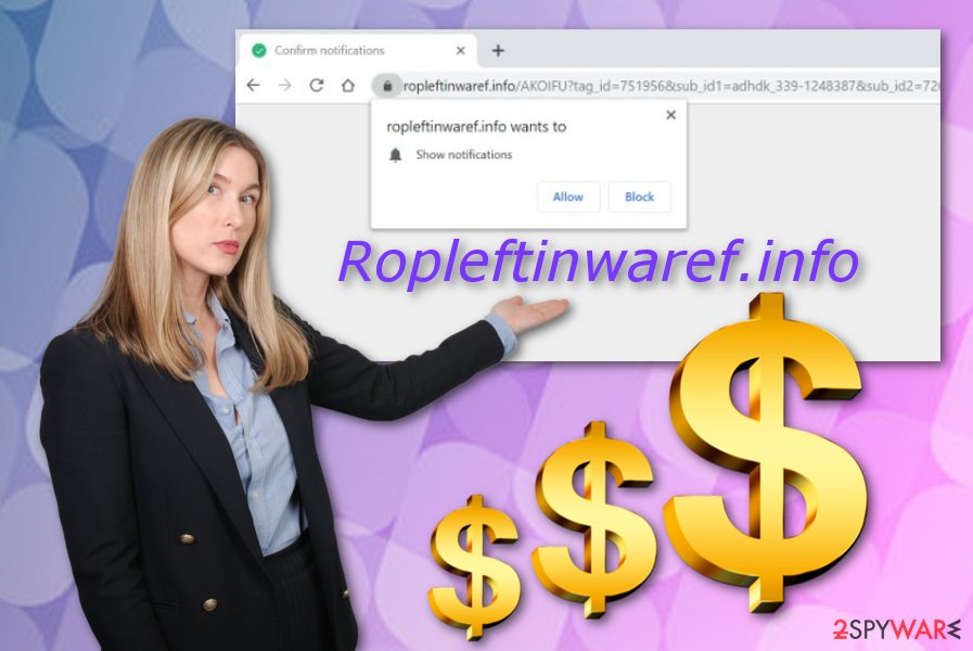 Ropleftinwaref.info ad-based program