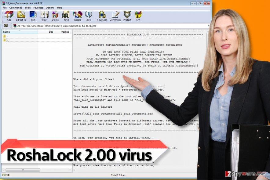 RoshaLock 2.00 ransomware virus