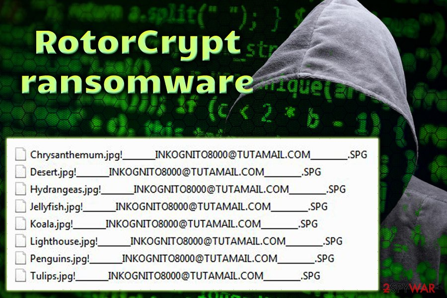 RotorCrypt file locking virus