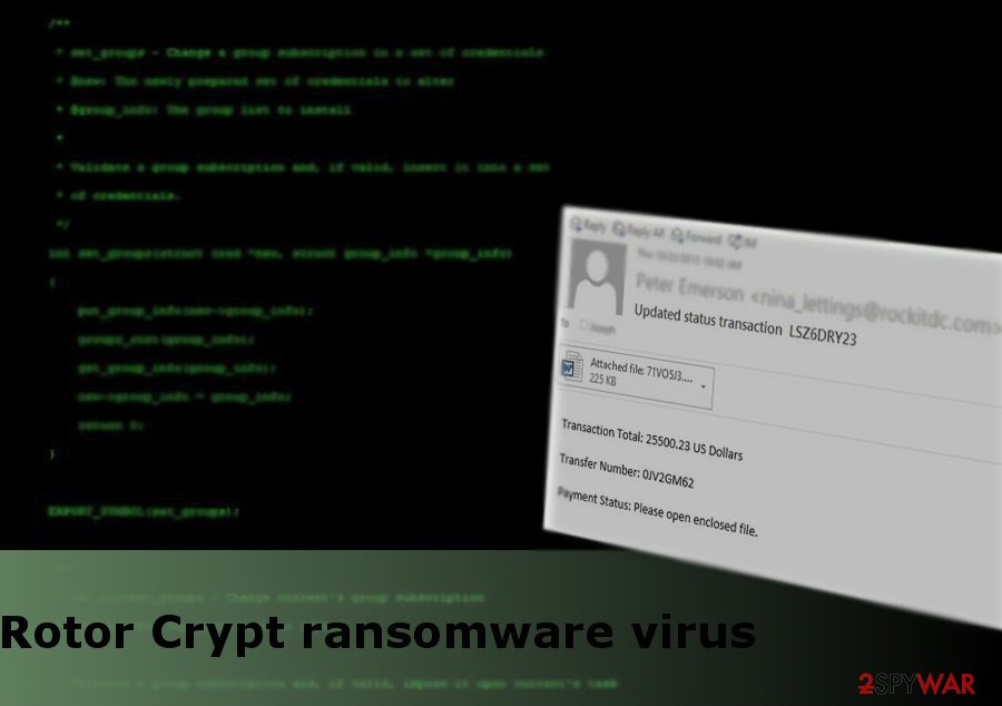 The picture of RotorCrypt ransomware virus