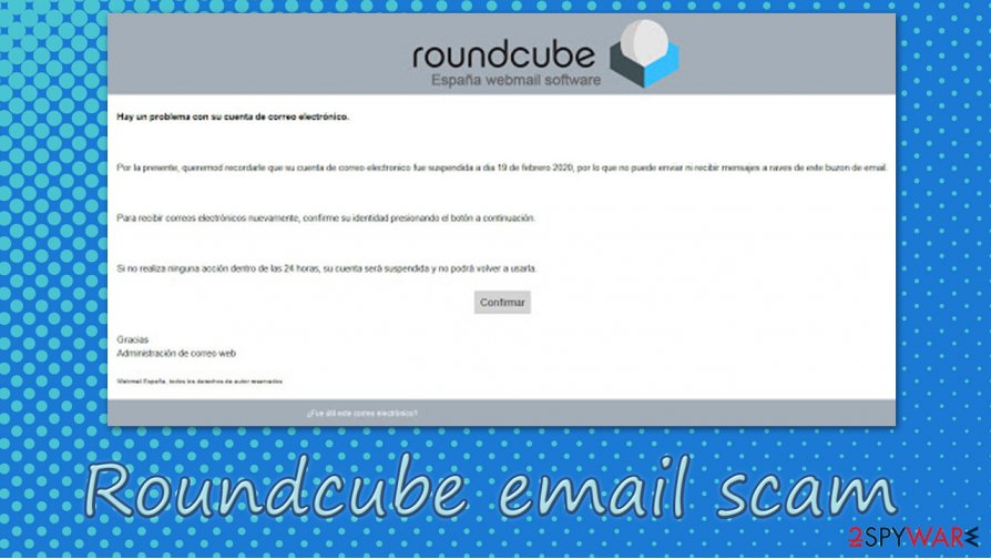 Roundcube email scam