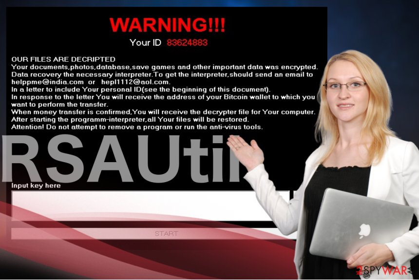 Image displaying RSAUtil ransomware
