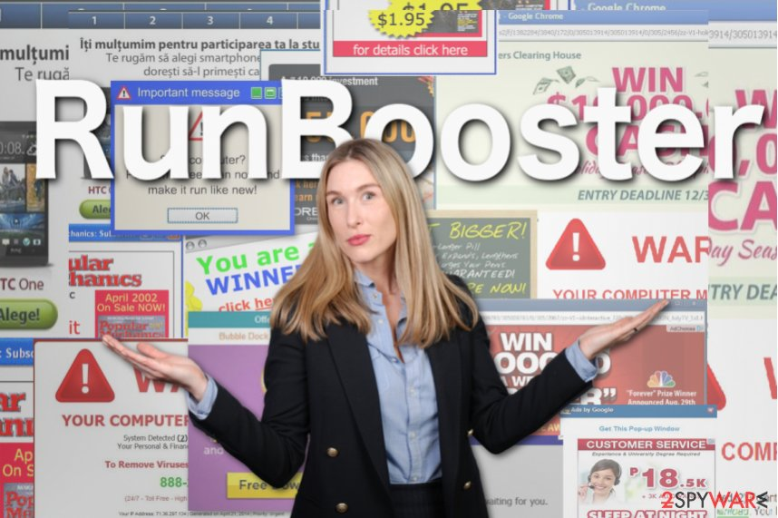 Illustration of RunBooster ads