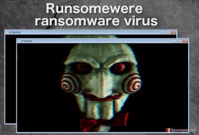 Runsomewere virus lock screen example