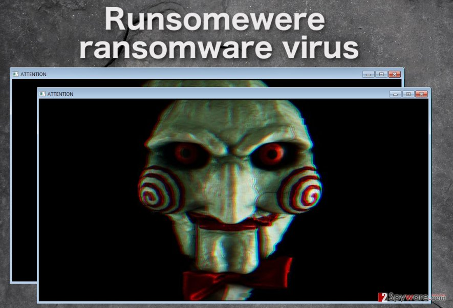 Runsomewere virus lock screen example