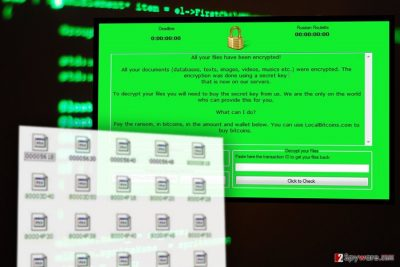The image of RussianRoulette ransomware virus