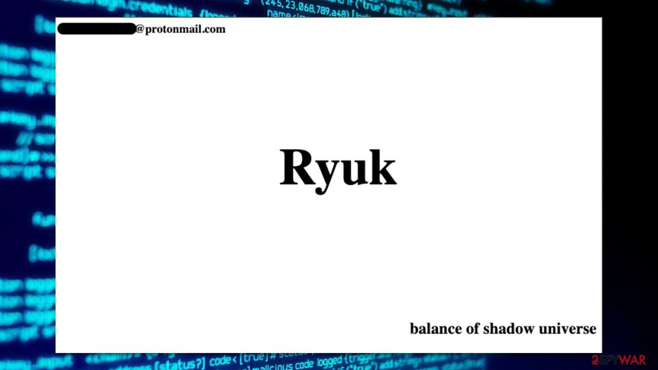 Ryuk ransomware gang is back