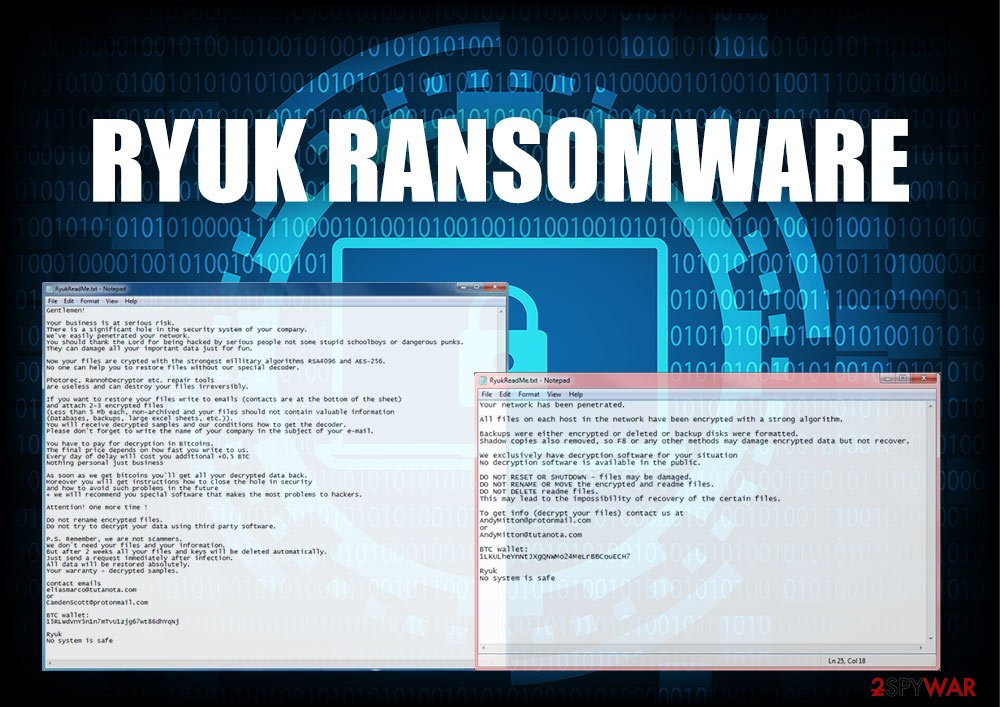 Image result for Ryuk ransomware