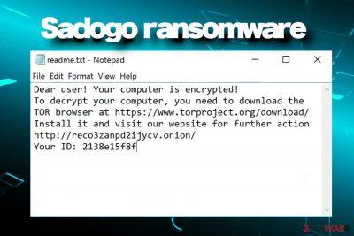 Sadogo ransomware