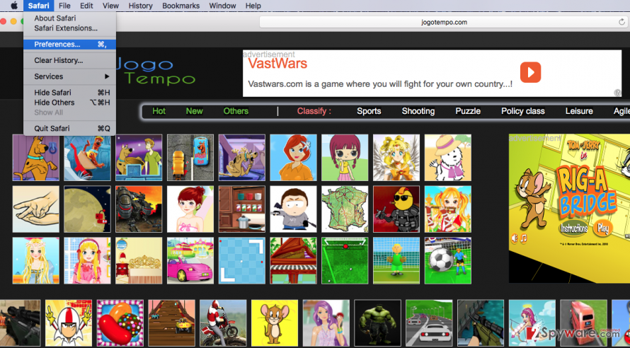 The picture showing Safari infected with Jogotempo virus