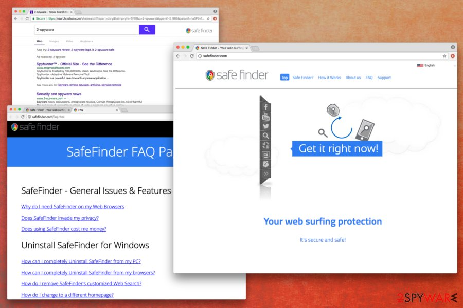 Safe Finder browser hijacker