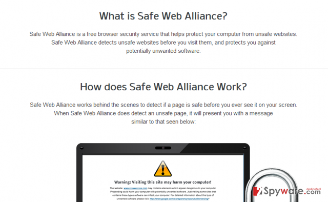 Safe Web Alliance snapshot
