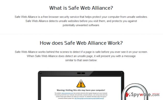 Safe Web Alliance snapshot