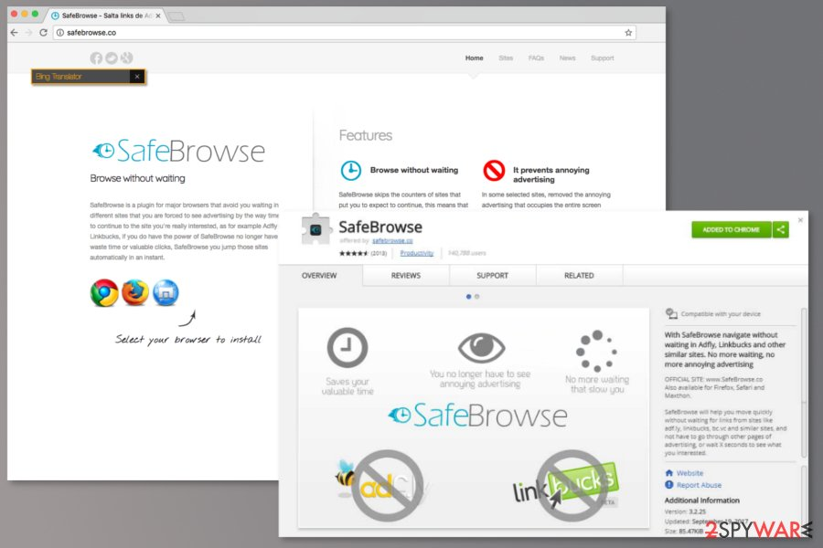 SafeBrowse download sources