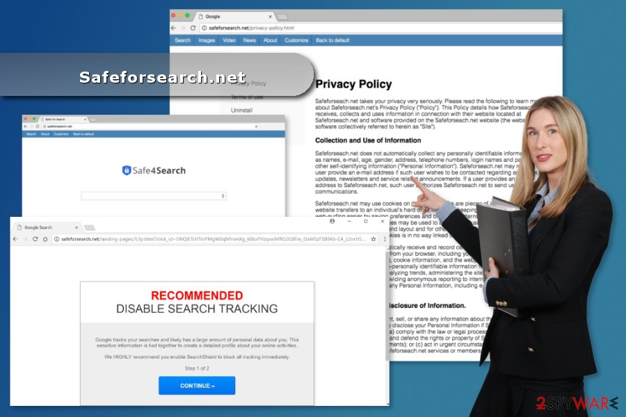 The picture of Safeforsearch.net virus