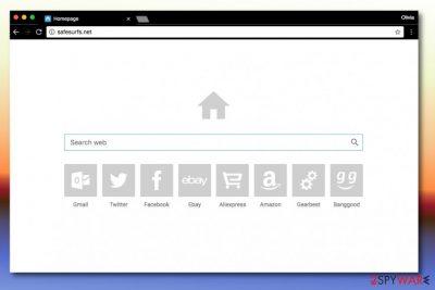Screenshot of Safesurfs.net search engine