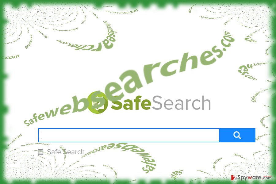 The image displaying Safewebsearches.com virus
