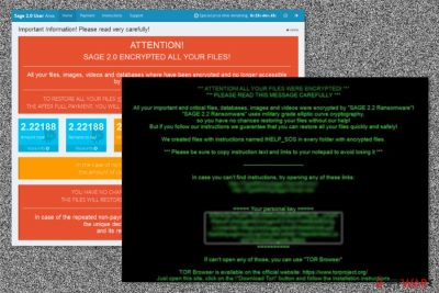 Sage 2.2 ransomware two types of ransom notes