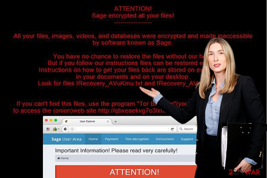 The image of Sage ransomware