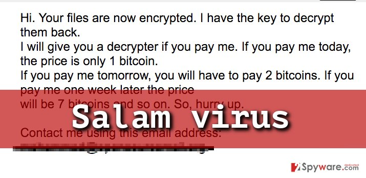 Salam malware demands money