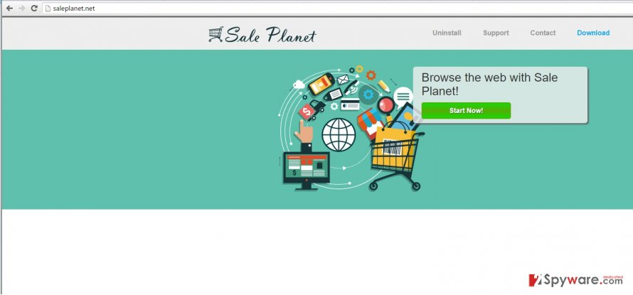 Sale Planet virus example screenshot