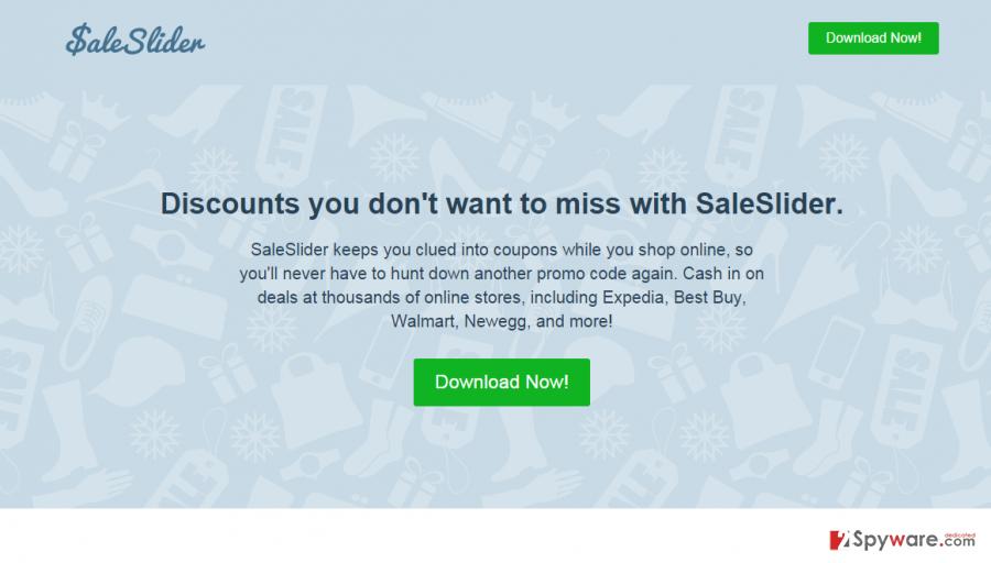 Sale Slider adware snapshot
