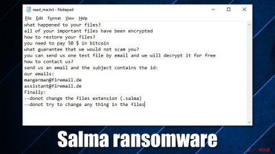 Salma ransomware