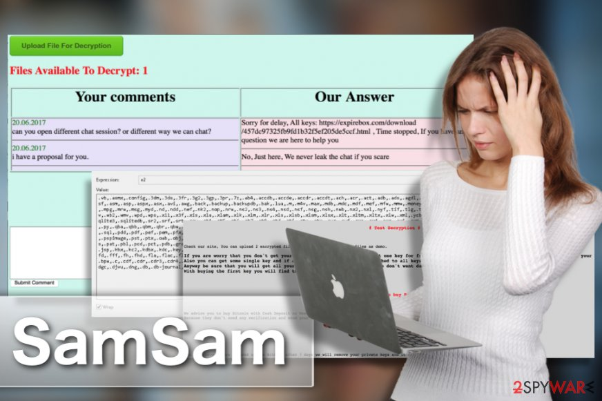 SamSam ransomware illustration