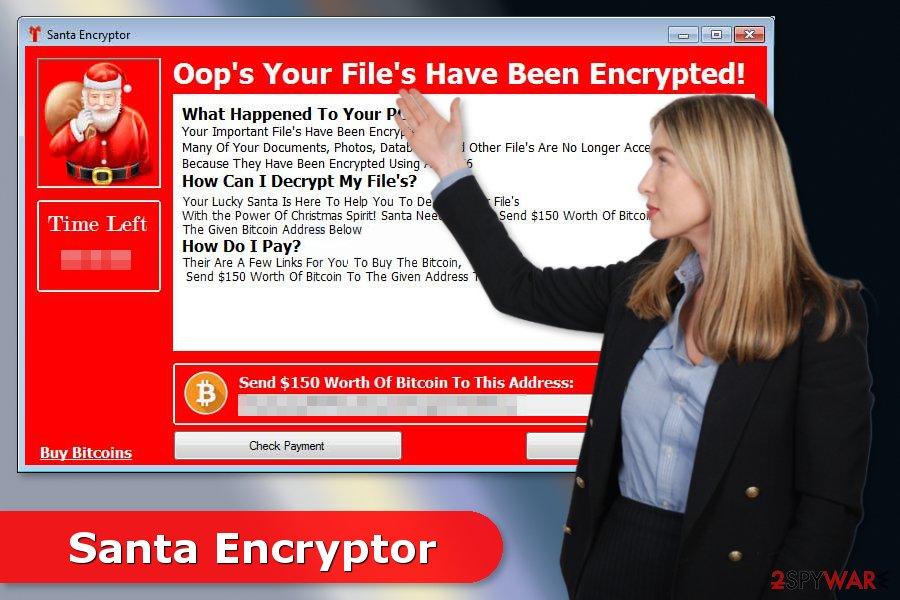 Image of Santa Encryptor ransomware virus