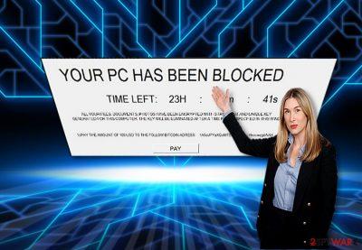 The screenshot of Sardoninir malware