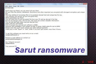 Sarut ransomware