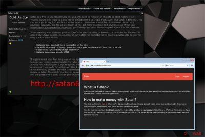 Satan Ransomware illustration