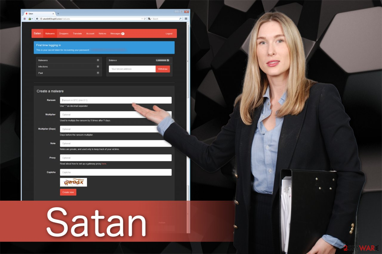 Satan ransomware image