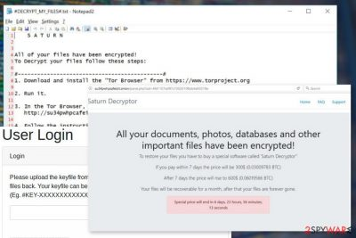 Image of Saturn ransomware