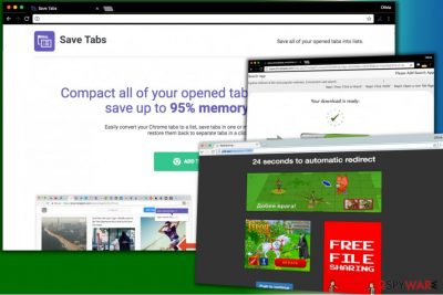 Save Tabs virus