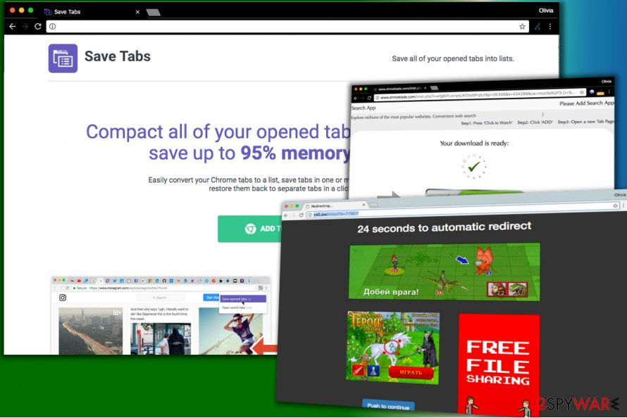 Save Tabs virus